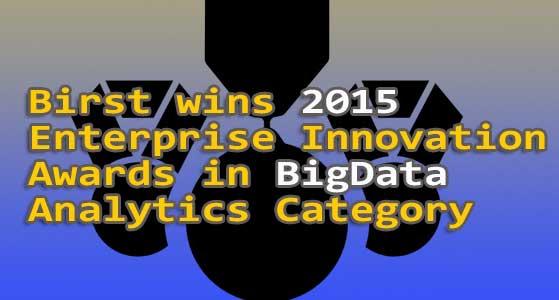 birst wins 2015 enterprise innovation awards in big data analytics category