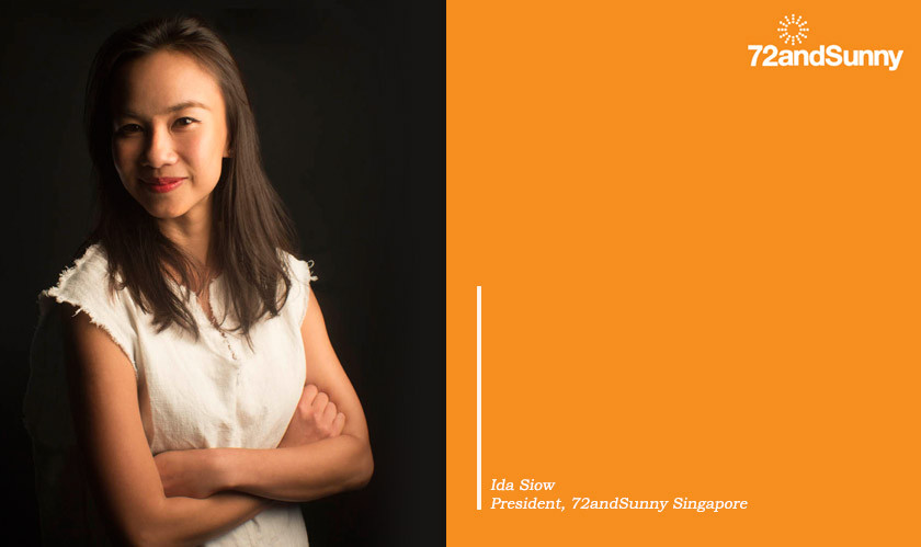 72andSunny Singapore appoints Ida Siow for the role of President