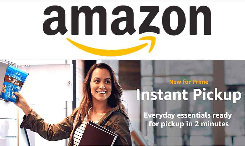 Instant Pickup Points from Amazon; deliveries in two minutes