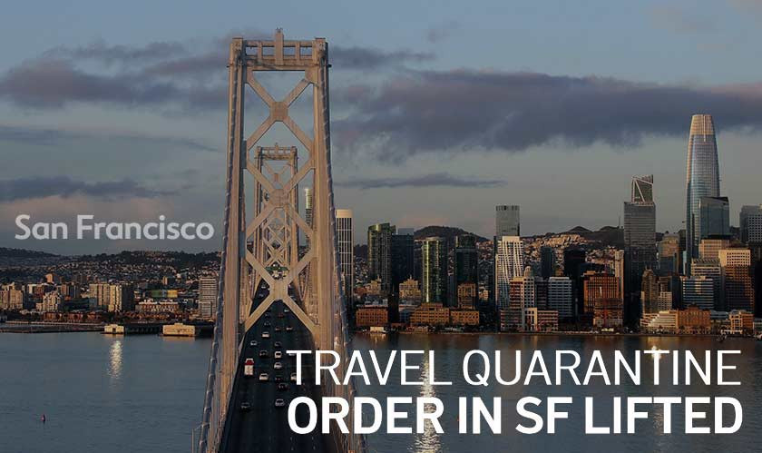 San Francisco lifts quarantine order for travel outside of the Bay Area