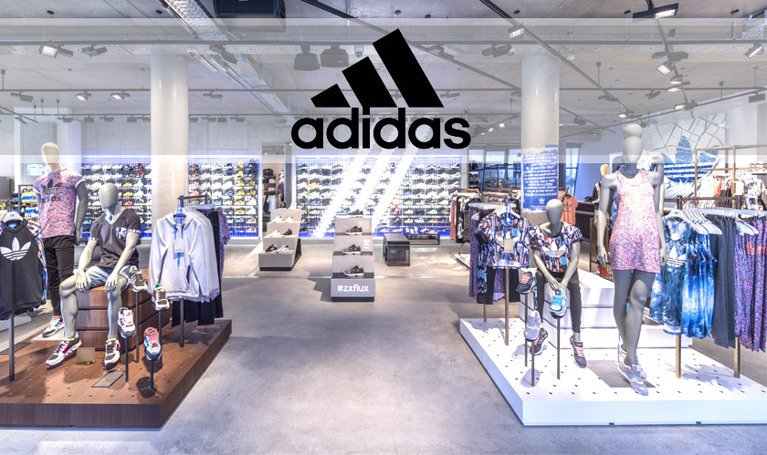Adidas consumers can now receive their online orders from the retail stores