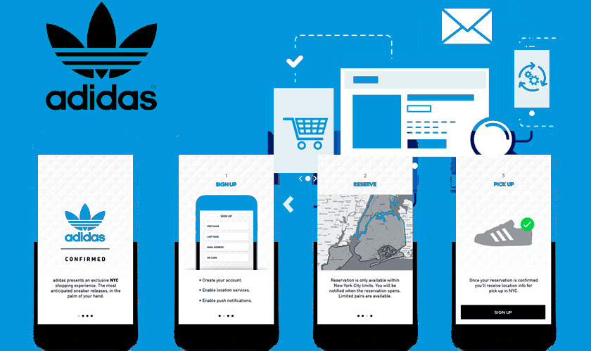 Adidas rolls out its new online shopping application