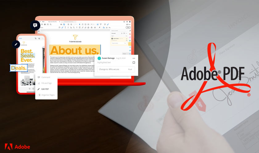 Adobe Acrobat offers multiple free useful tools for PDFs on the Web