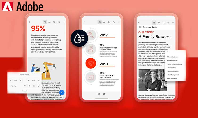 Adobe launches Liquid Mode to redesign PDFs for mobile devices