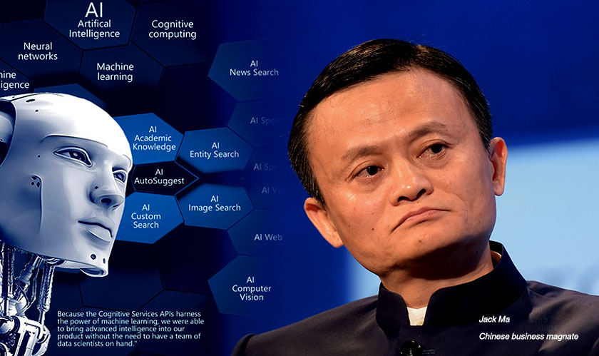 """Artificial intelligence and big data is a threat to human beings,"" Jack Ma"