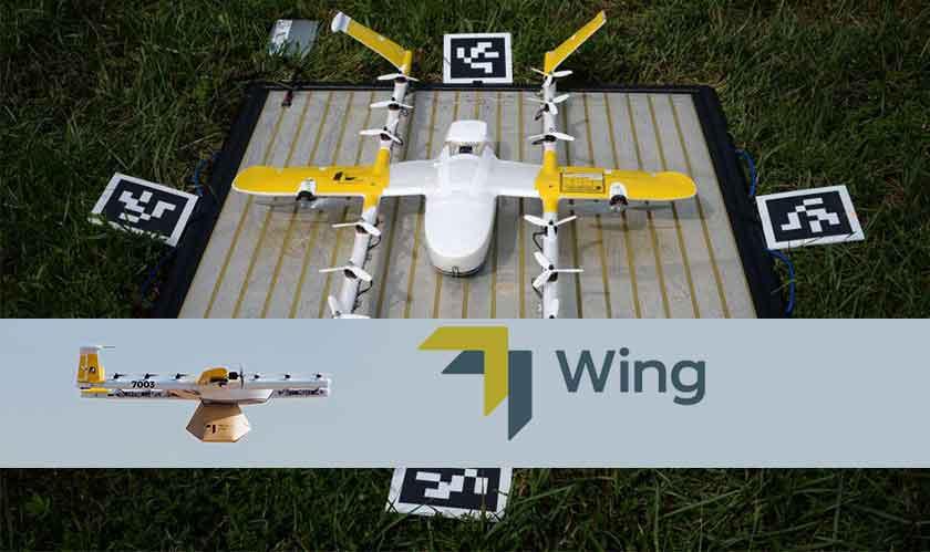 alphabet wing drones