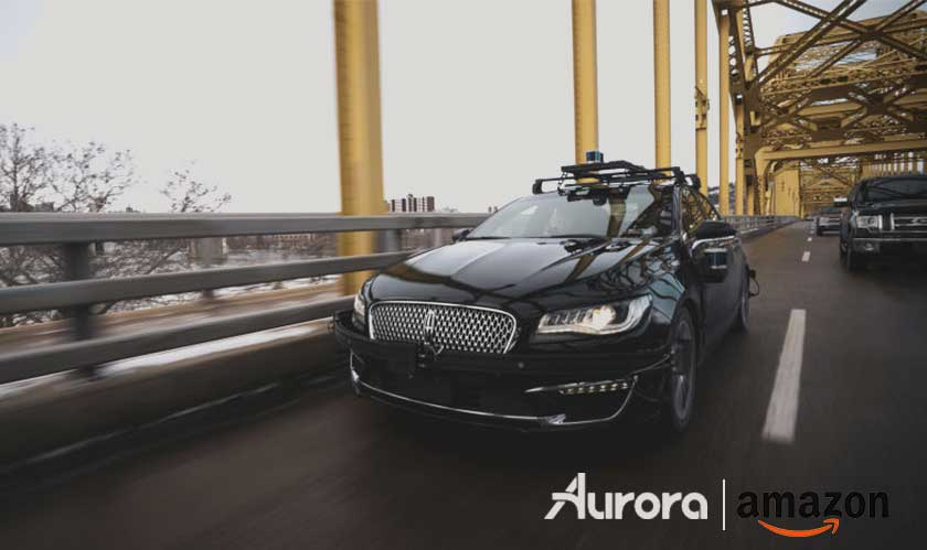 Amazon sets foot into the autonomous vehicles space by backing Aurora