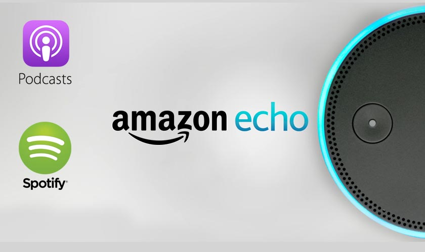 amazon echo apple spotify podcasts