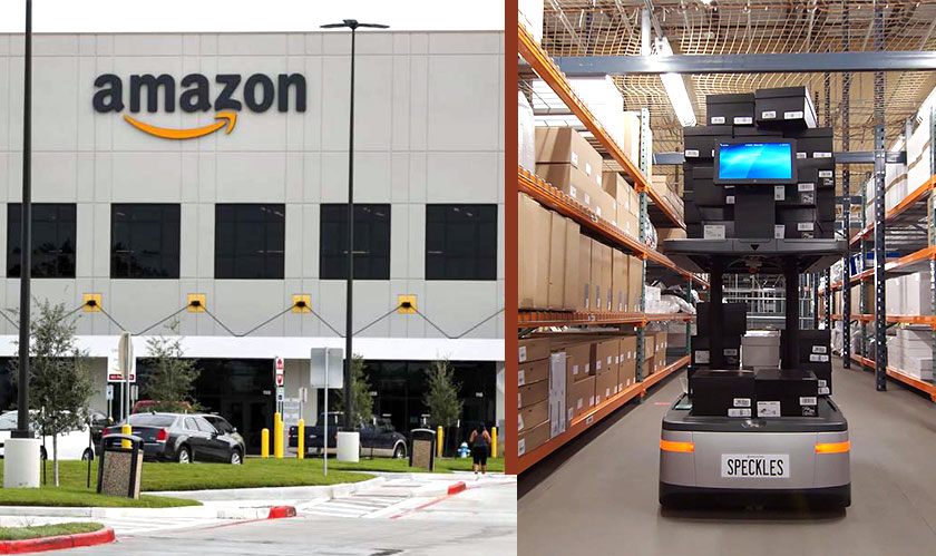 amazon robots warehouses offices