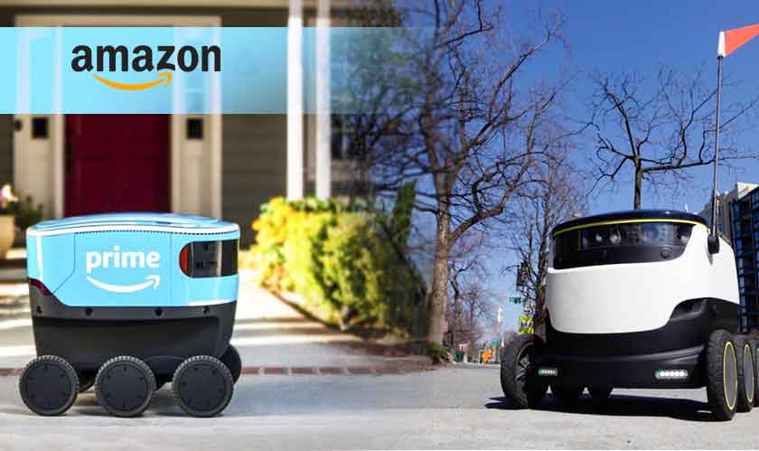Amazon starts testing its delivery robot