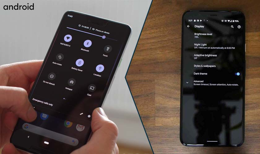 software android    dark mode scheduling