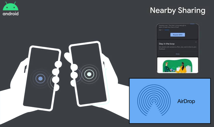 "Android's AirDrop replica gets a new name ""Nearby Sharing"""