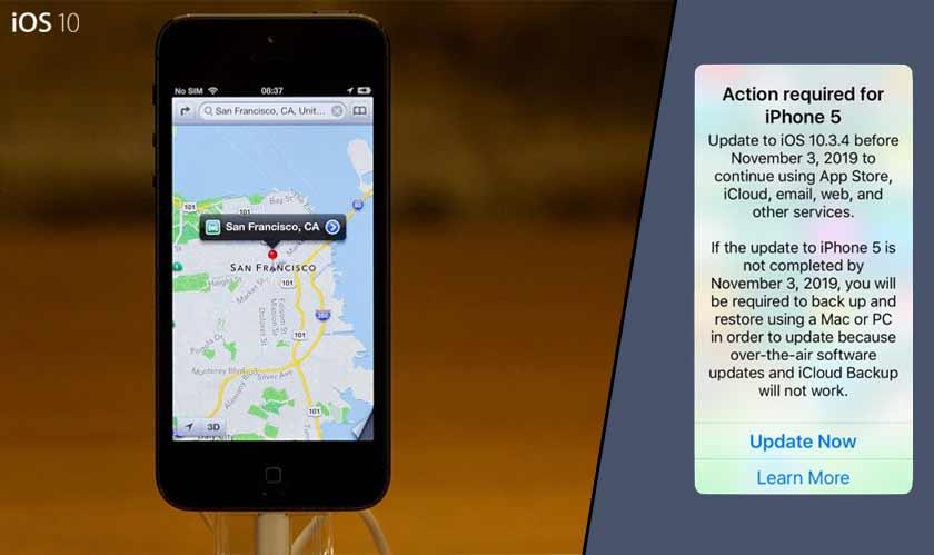 apple ios 10 iphone 5 gps