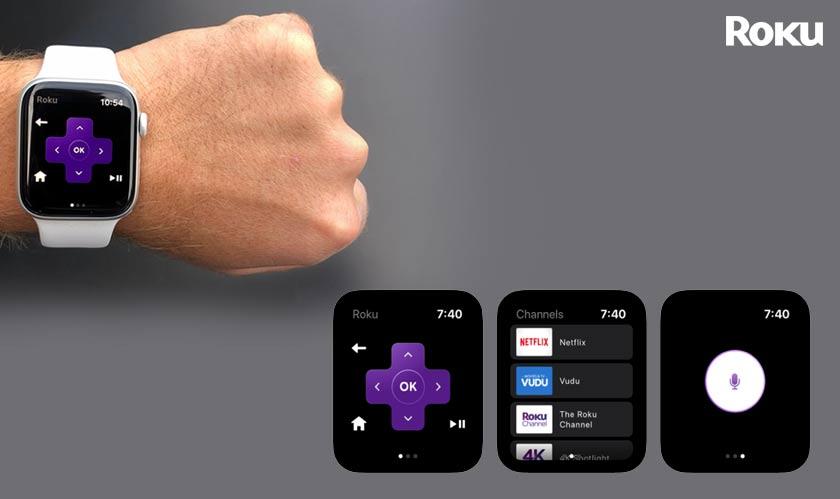 mobile apple watch roku remote control