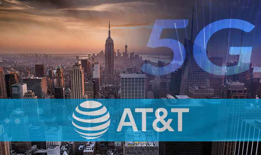 AT&T is lighting up New York with its 5G today