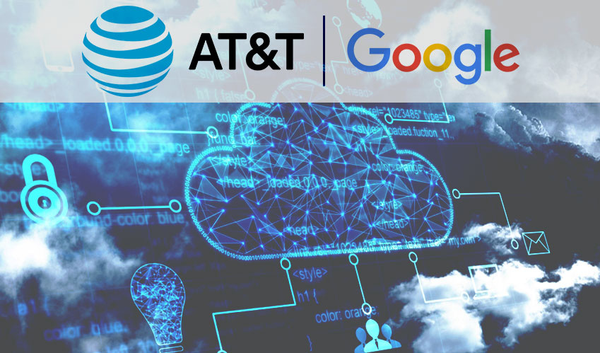 AT&T will conjoin Google to connect customers to cloud