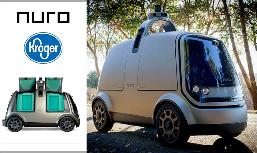 Nuro cars bring Kroger Groceries on road with Robotics