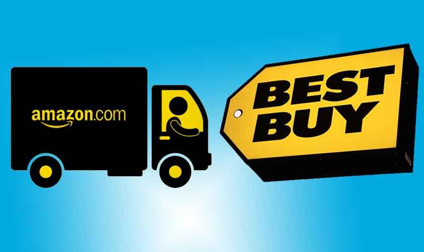 Between Best Buy and Amazon