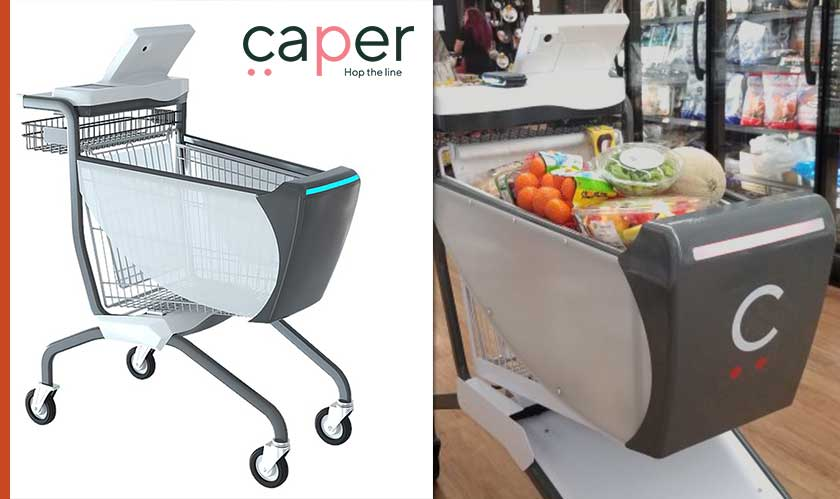 caper labs smart shopping cart