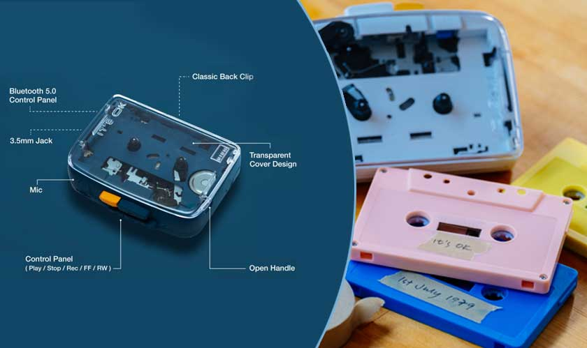 iot cassette tape back with advanced features