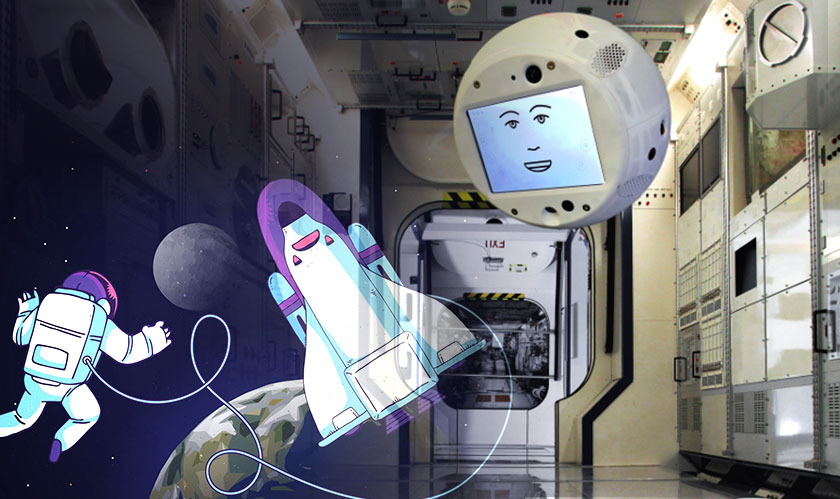 cimon ai robot in space