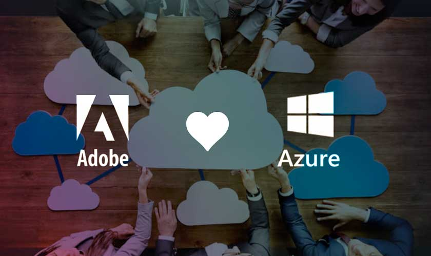 adobe microsoft azure china cloud partnership