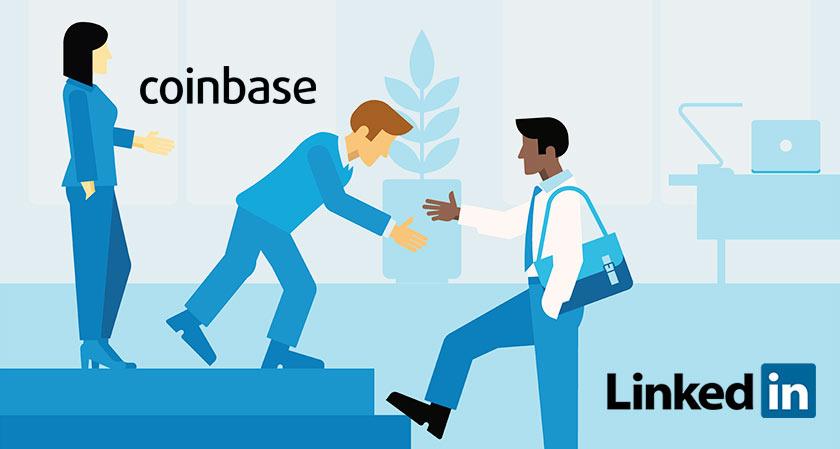 coinbase hires linkedin employee