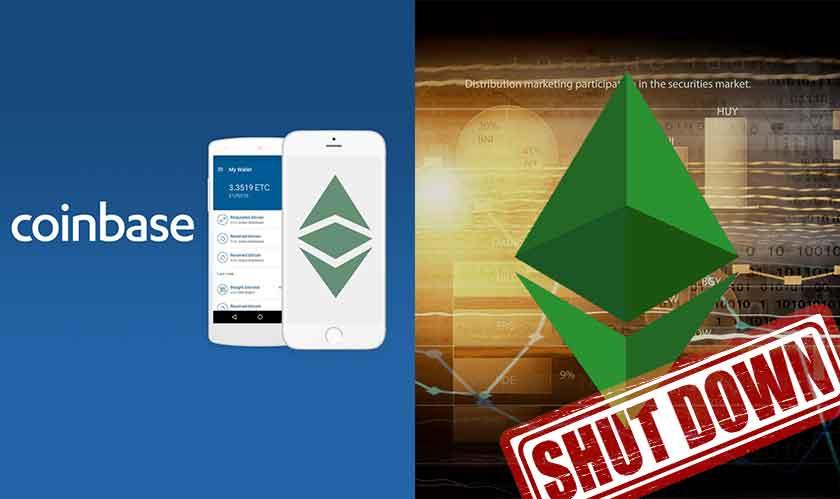 coinbase suspends ethereum classic trade
