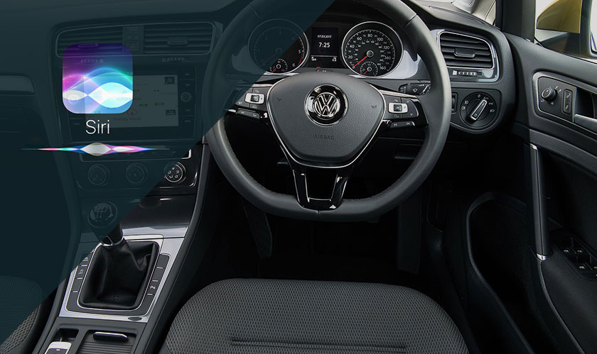 control volkswagen car with siri