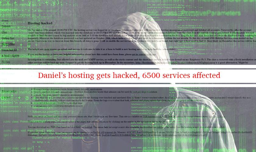 daniels hosting hacked