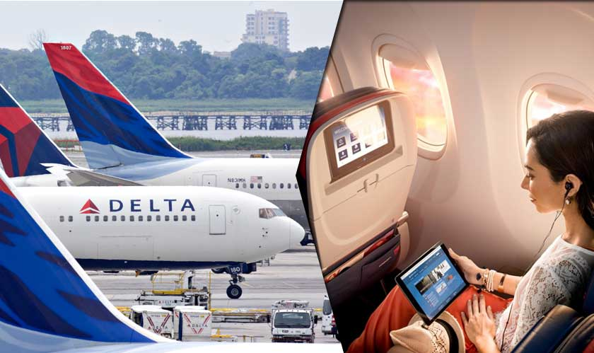 networking delta flights test wifi
