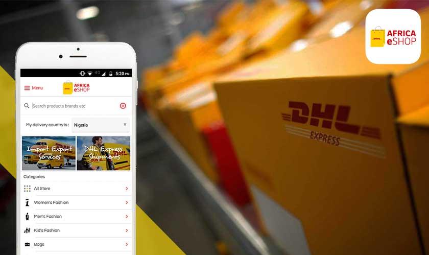 dhl africa eshop retail app