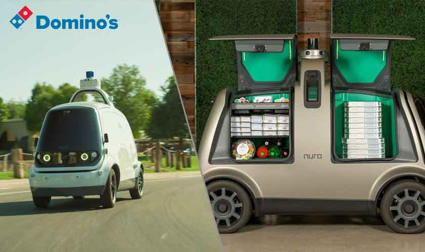 retail dominos pizza driverless delivery