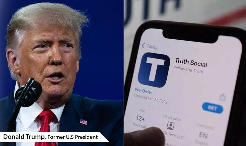 Former U. S President Donald Trump launches new social media named TRUTH Social