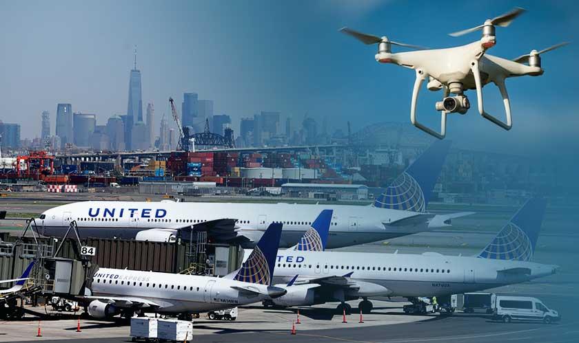 drones halt newark airport operations