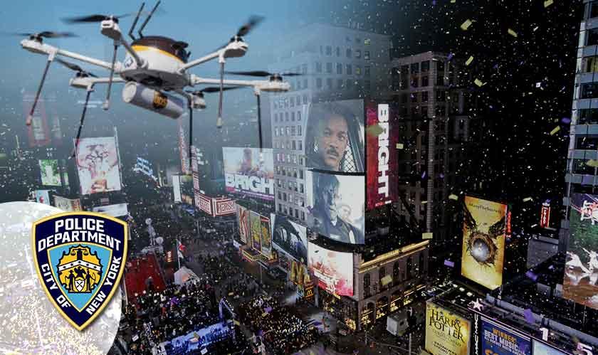 drones monitor times square