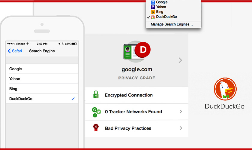 DuckDuckGo incorporates Tracker blocking tools