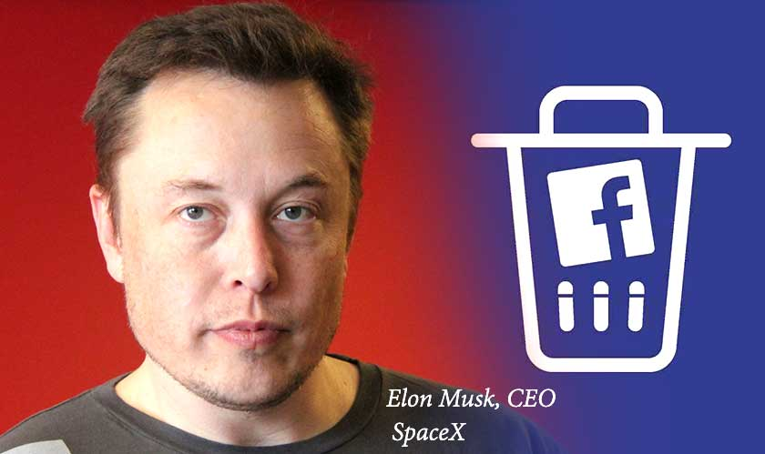 Elon Musk takes up the #DeleteFacebook Challenge; Removes Tesla and SpaceX pages