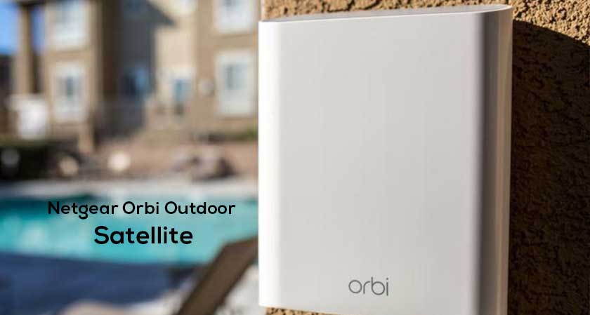 Extensive Wi-Fi coverage from Netgear Orbi Outdoor Satellite