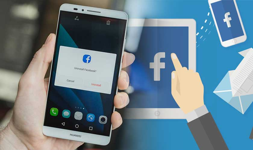It is impossible to delete Facebook app on your smartphones