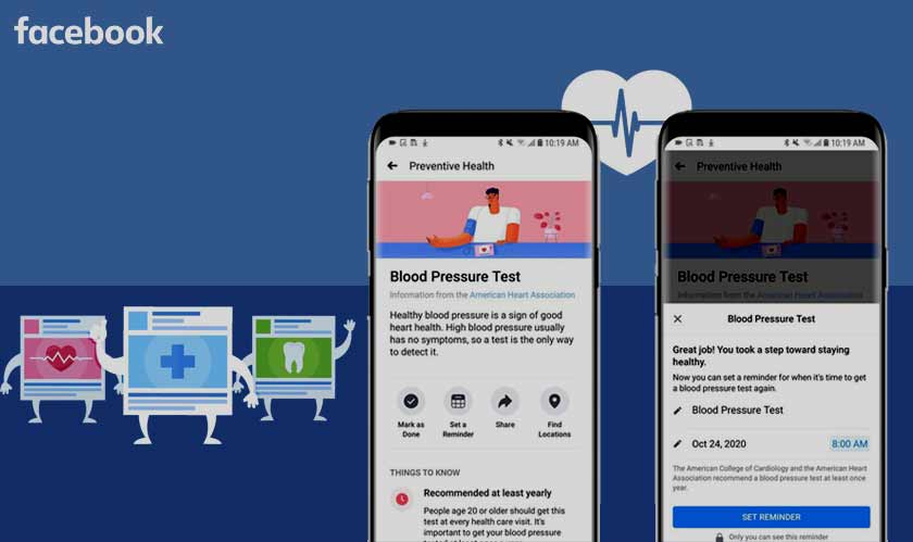 Facebook launches its Preventive Health tool
