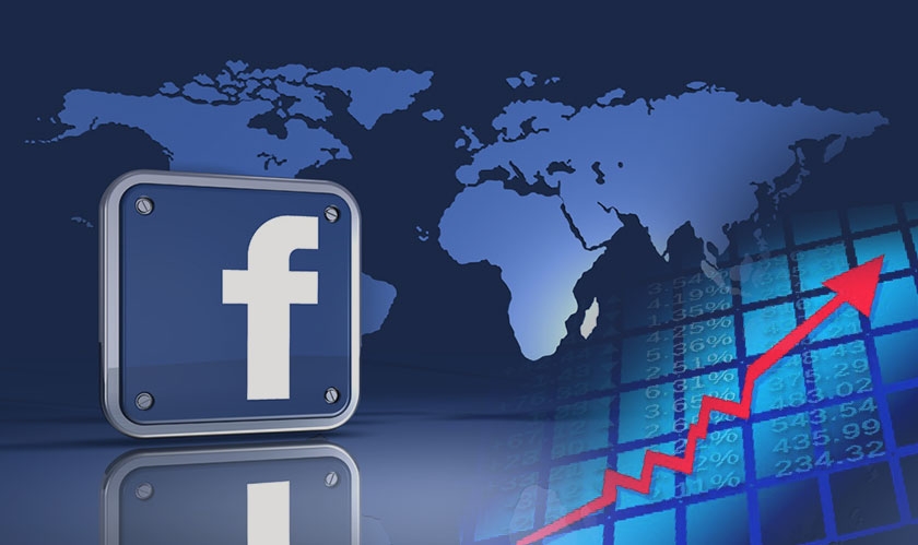 Facebook shares accelerate despite decelerating user growth and revenue