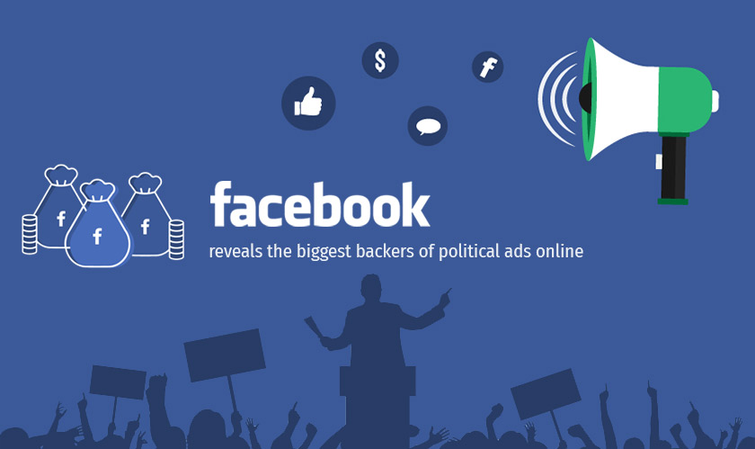 Facebook reveals the biggest backers of political ads online