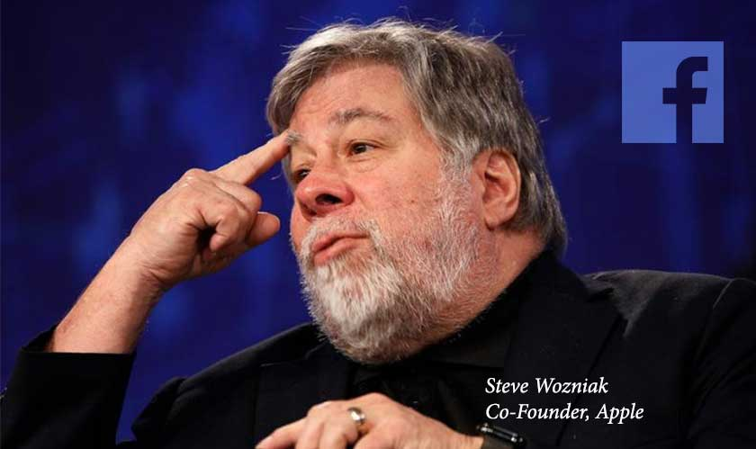 Steve Wozniak asks people to quit Facebook