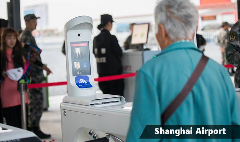 facial recognition for checkin at shanghai