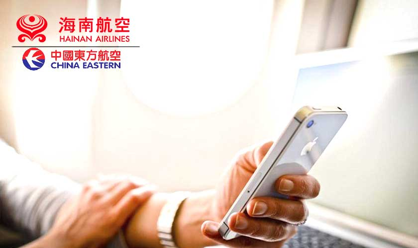 Finally Chinese airlines authorized cellular phones in flight mode!