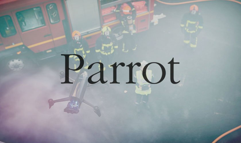 parrot drones for firefighters farmers