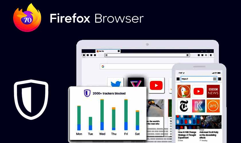 Firefox 70 has privacy reports and new password generator