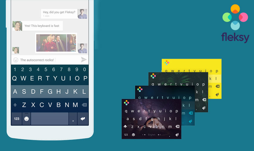 Fleksy keyboard for Android now let's users play video