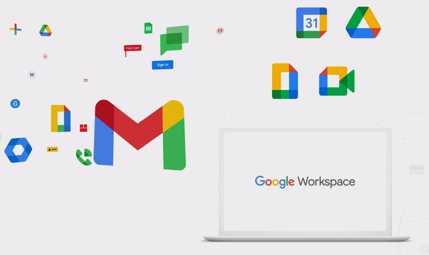 G Suite rebranded to Google Workspace with redesigned icons